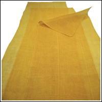 3 Panel Set Lovely Lemon Yellow Kaya Hemp Mosquito Netting
