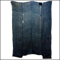 Large Kaya Hemp Variegated IndigoGreen Boro Mosquito Netting DIY Repair
