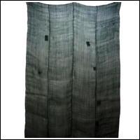 Kaya Hemp Variegated GreenBlue Boro Patched Mosquito Netting