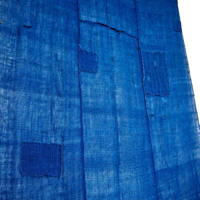 Kaya Boro Patched Indigo Cotton Mosquito Netting 3 Panels