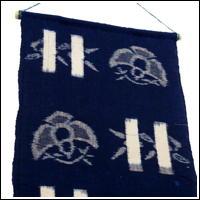 EGasuri Picture Kasuri Wall Hanging Suzume Sparrow