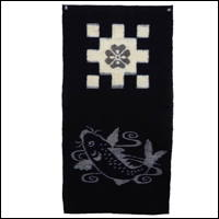 EGasuri Picture Kasuri Wall Hanging Large Koi Fish