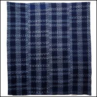 Early Indigo Splash Kasuri Cotton Futon Cover