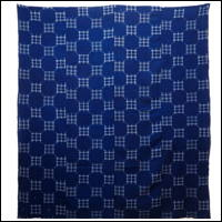 Early Indigo Picture Kasuri Cotton Futon Cover