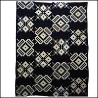Early Indigo Picture Kasuri Cotton Futon Cover Geometric Design