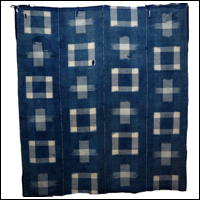 Early Indigo Picture Kasuri Cotton Futon Cover DIY Repair