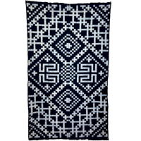 Spectacular Early Indigo Picture Kasuri Cotton Futon Cover Geometric Design