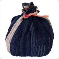 Komebukuro Indigo Cotton Rice Bag