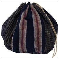 Small Size Komebukuro Indigo Cotton Rice Bag