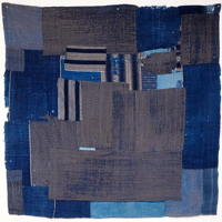 Indigo Patchwork Cotton Kotatsu Table Cover