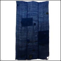 DIY Repair Dark Indigo Hemp and Cotton Boro Patched Kaya Mosquito Netting