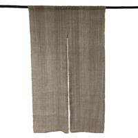 Delightful Simple Charm Natural Hemp 2 Panel Noren Hangs beautifully