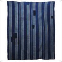 Stripe Indigo Cotton Boro Futon Cover Textile