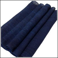 Finely Woven Indigo Stripe Hemp Textile Panel