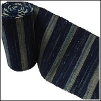 Old Hand Loomed Sakiori Indigo Cotton Obi