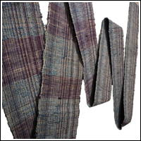 Exceptional Old Hand Loomed Primative Sakiori Cotton Obi