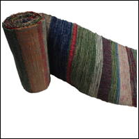 Extra Long  Old Hand Loomed Sakiori Colorful Cotton Obi