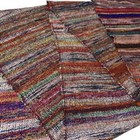Old Hand Woven Sakiori Colorful Unusual Luxurious Silk Obi