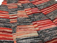 Extra Wide and Long Old Hand Woven Sakiori Colorful Cotton Obi