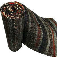 Extra Long  Wide Old Hand Loomed Sakiori Colorful Cotton Obi
