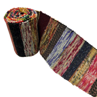Old Hand Loomed Extra Long Sakiori Cotton Obi