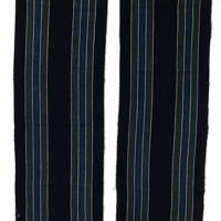 Indigo Thick Cotton Stripe Textile Panels 2 Panels