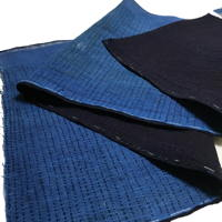 Length Of Hand Stitched Sashiko Indigo Cotton Textile