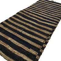 Imperfect Extra Long Cotton Sakiori Obi Textile Hand loomed Hand Made Tight Weave