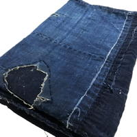 Early Solid Indigo Cotton Boro Futon Cover
