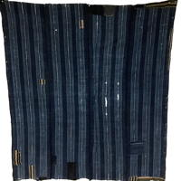 Imperfect Early Indigo Cotton Boro Futon Cover