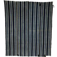 Early Indigo Stripe Cotton Boro Futon Cover