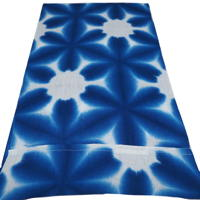 Length Of Hand Dyed Shibori Indigo Cotton Fabric