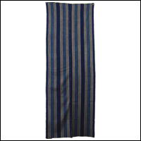 Old Stripe Cotton Indigo Textiles Double Wide