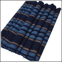 Old Stripe Cotton Indigo Textile Longer