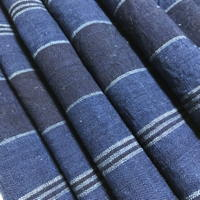 Beautiful Old Stripe Homespun Indigo Cotton Textile