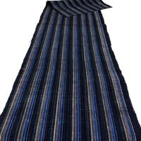 Old Thin Stripe Cotton Indigo Textile