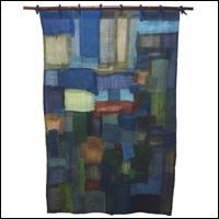 Sizable Hemp Curtain Fashioned by Toshiko Imaizumi