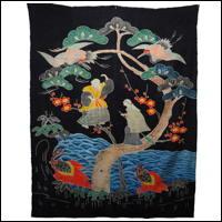 Antique Indigo Cotton Tsutsugaki Futon Cover
