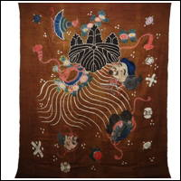 Antique Cotton Tsutsugaki Marital Futon Cover