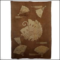 Antique Cotton Tsutsugaki Futon Cover Metamorphosing Moth