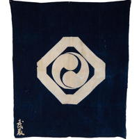 Early Indigo Cotton Furoshiki Textile