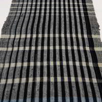 Unusual Length Of Zanshi Weaving Indigo Cotton Textile Panel