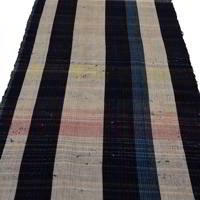 Long Lenght Of Zanshi Weaving Indigo Cotton Textile Panel