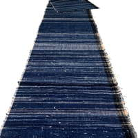 Length Of Zanshi Weaving Indigo Cotton Textile Panel
