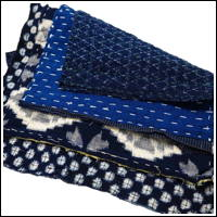 Zokin Sashiko Dust Cloth Set 4