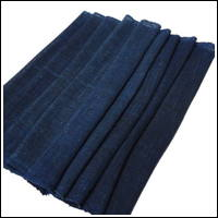 Length Of Lovely Indigo Kaya Mixed Hemp  Cotton Mosquito Netting