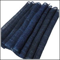Length Of Wide Lovely Indigo Hemp Kaya Mosquito Netting