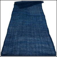 Length Of Very Nicely Faded Indigo Kaya Mixed Hemp  Cotton Mosquito Netting
