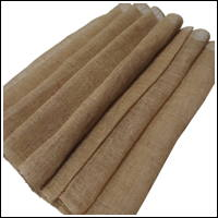 Length Of Light Beige Hemp Kaya Mosquito Netting