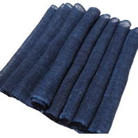 Long Length Of Old Kaya Mosquito Netting Indigo Hemp